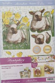 Hunkydory 5-Sheet Step Into Springtime Farmyard Fence & The Little Lamb Deco-Large Set