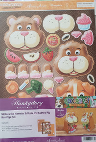 Hunkydory Box-Pops! - Perfect Pets Nibbles the Hamster & Rosie the Guinea Pig - Makes 2 Cards