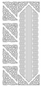 JEJE Peel Sticker- Floral Triangles / Waving Lines 599 SILVER