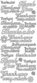 JEJE Peel Sticker- Thank You Various 480 SILVER