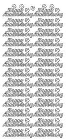JEJE Peel Sticker- Happy Anniversary 30 GOLD