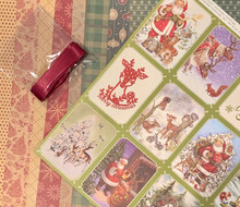 Exploding Box Card Kit -- When Snow Falls AKA Reindeer Kit -- Crafter's Companion & Authentique Papers