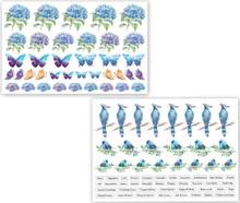 Dress My Craft Hydrangea Lawns Motif Sheets- 2, A4 sheets- 98 Motifs