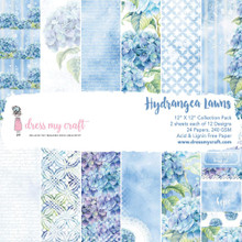 """Dress My Craft 12""""x 12"""" Collection Pack- 24 sheets Hydrangea Lawns"""