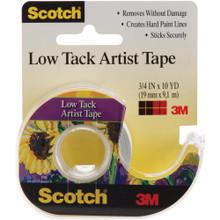 Scotch Tack Artist Tape- White- 3/4 in x 10 yd