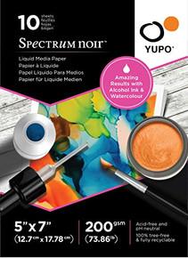 "Spectrum Noir YUPO Paper 5X7 10/SH LQD Media, 5""X7"""