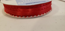 """Offray Satin - 3/16"""" x 6yd Ribbon - RED FEATHERED"""