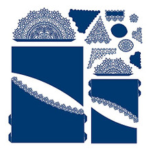 Tattered Lace Pleated Curve Cardshape Cutting Die 844541