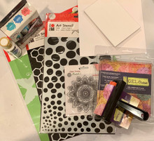 Live Stream Class Kit -Gel Press Starter Kit --For Aug 5th & 7th Classes --Save over 25% with Kit