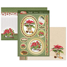Hunkydory Crafts- Christmas Classic Luxury Topper Set- A Poinsettia For You CLASSIC21-901