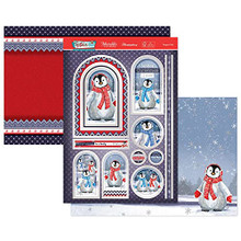 Hunkydory Crafts- Festive Fun Luxury Topper Set- Penguin Pals CUTE21-907
