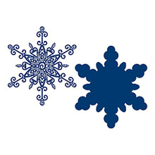 Tattered Lace Frosted Lace- Quilled Snowflake Cutting Die 859803