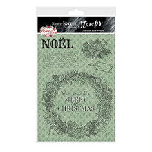 Hunkydory Crafts for The Love of Stamps - Christmas Rose Wreath A5 Stamp Set