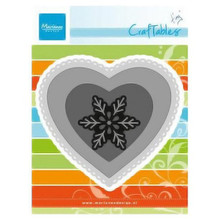 Ecstasy Crafts Marianne Design Craftables Dies, 4.25 by 3.75-Inch, 3 Hearts and Snowflake