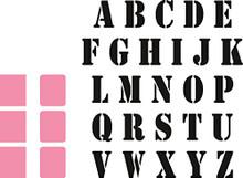Marianne Design Collectables Stempel Alfabet Die, Pink