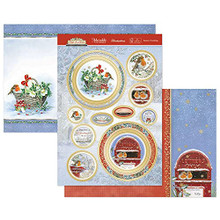 Hunkydory Crafts- Topper Set- Little Red Robin Season's TWEETINGS - ROBIN902