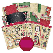 Hunkydory Crafts Forever Florals Festive Rose Luxury Topper Collection FFXMAS101
