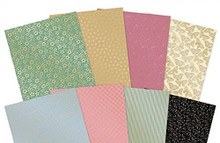 Hunkydory Crafts- Floral Elegance- Floral Elegance Fabulous Foiled Edge-to-Edge Cardstock- LFC136