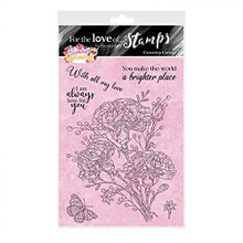 Hunkydory Crafts- for The Love of Stamps- Summer Splendour- Carnation Corsage A6 Stamp Set FTLS758