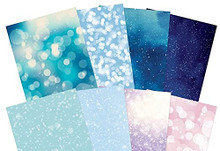 Hunkydory Crafts Adorable Scorable Pattern Pack SPARKLING SNOWFALL 24 SHEETS