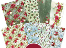 Hunkydory Crafts Adorable Scorable Pattern Pack WINTER FLORALS 24 SHEETS - ASMIX130