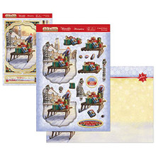 Hunkydory Crafts The Joy of Christmas Deco-Large Topper Set - A Special Delivery JOYDEC902