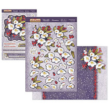 Hunkydory Crafts The Joy of Christmas Deco-Large Topper Set - Winter Blooms JOYDEC911