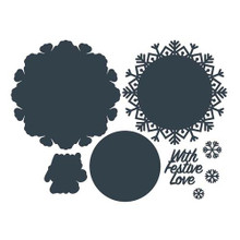 The Paper Boutique- Cutting Dies-With Festive Love Doily Die