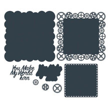 The Paper Boutique- Cutting Dies- You Make My World Turn Doily Die