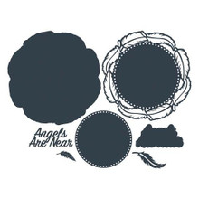 The Paper Boutique- Cutting Dies- Angels Are Near Doily Die