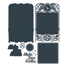 The Paper Boutique- Cutting Dies- Make Time For You Doily Die