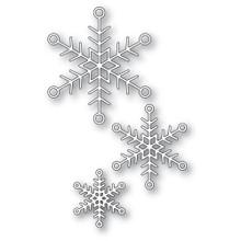 Memory Box 100% Steel Jolly Snowflake Trio Cutting Die- 94284