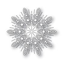 Memory Box 100% Steel Holiday Heart Snowflake Cutting Die- 94315