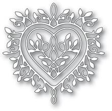 Memory Box 100% Steel Champagne Heart Cutting Die- 94389
