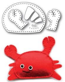 Memory Box 100% Steel Plush Cute Crab Cutting Die- 99764