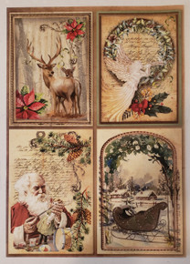 Imagination Crafts A4 Rice Paper- Home For Christmas- Classic Postcards