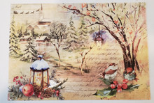 Imagination Crafts A4 Rice Paper- Home For Christmas- Classic Landscape