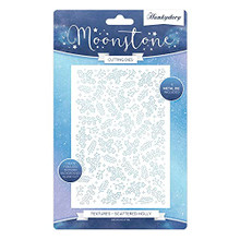 Hunkydory Moonstone Cutting Dies - Textures Scattered Holly - MSTONE413