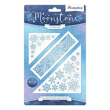 Hunkydory Moonstone Cutting Dies- Falling Snowflake Panels