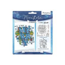 Hunkydory Crafts Moonstone Combos Seasonal Statements - Merry Cutting Dies and Stamp MSTONE450