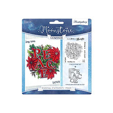 Hunkydory Crafts Moonstone Combos Seasonal Statements - Peace Cutting Dies and Stamp MSTONE451