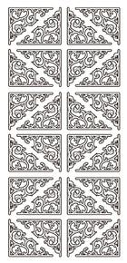 JEJE Peel Sticker- Classic Corners 1.3300 GOLD