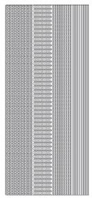 JEJE Peel Sticker- Thin Lines 675 Silver