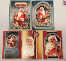 Live Stream Class Kit Here Comes Santa Claus CLASSIC21-908 -- Hunkydory Crafts - Makes 5 Cards
