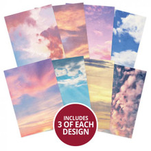 Hunkydory Crafts A4 Adorable Scorable Pattern Pack - Painted Clouds