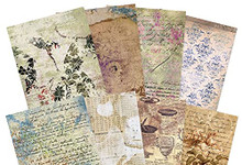 Hunkydory Crafts Adorable Scorable Pattern Pack - De-Stressed Paper - 350gsm
