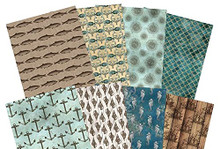 Hunkydory Crafts Adorable Scorable Pattern Pack - Sea Shanty-24 A4 Sheets 350gsm