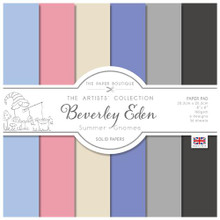 """The Paper Boutique- Beverley Eden- Summer Gnomes 8""""x8"""" Solid Papers- Paper Pad"""