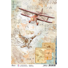Ciao Bella Paper crafting Rice Paper Study of Flight CBRP173