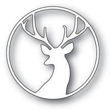 Memory Box 100% Steel Fancy Deer Circle Cutting Die- 94091